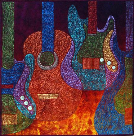 Painting Quilts Inspiration For Painted Fabric Art Art Quilts Fabric Art Quilting Crafts