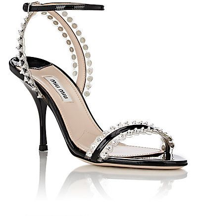 Miu Miu Embellished Ankle Strap Sandals free shipping looking for fashionable sale online jvtEs8r