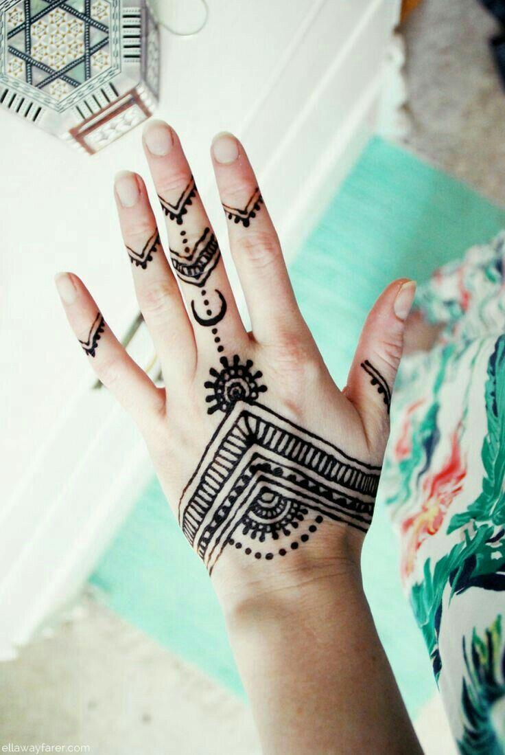 Pin By Amaliah On Henna Henna Tattoo Hand Simple Henna Tattoo Henna Tattoo Designs