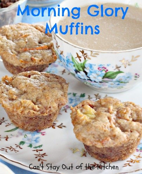 Morning Glory Muffins - delicious muffin that is filled with fruit and nuts. #breakfast