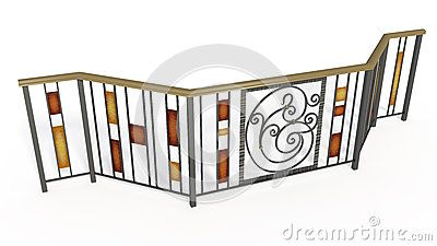 Wrought iron stairs lattice