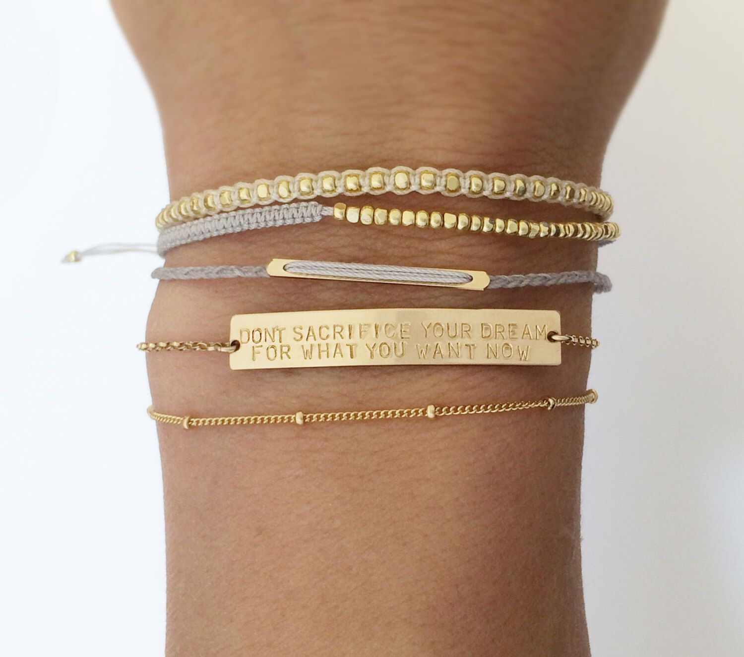 gold bar sterling name pin fill silver rose bracelet