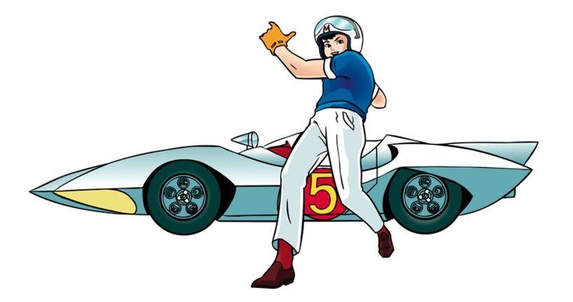 Vintage Race Car Cartoon Illustration C Timothy Pronk