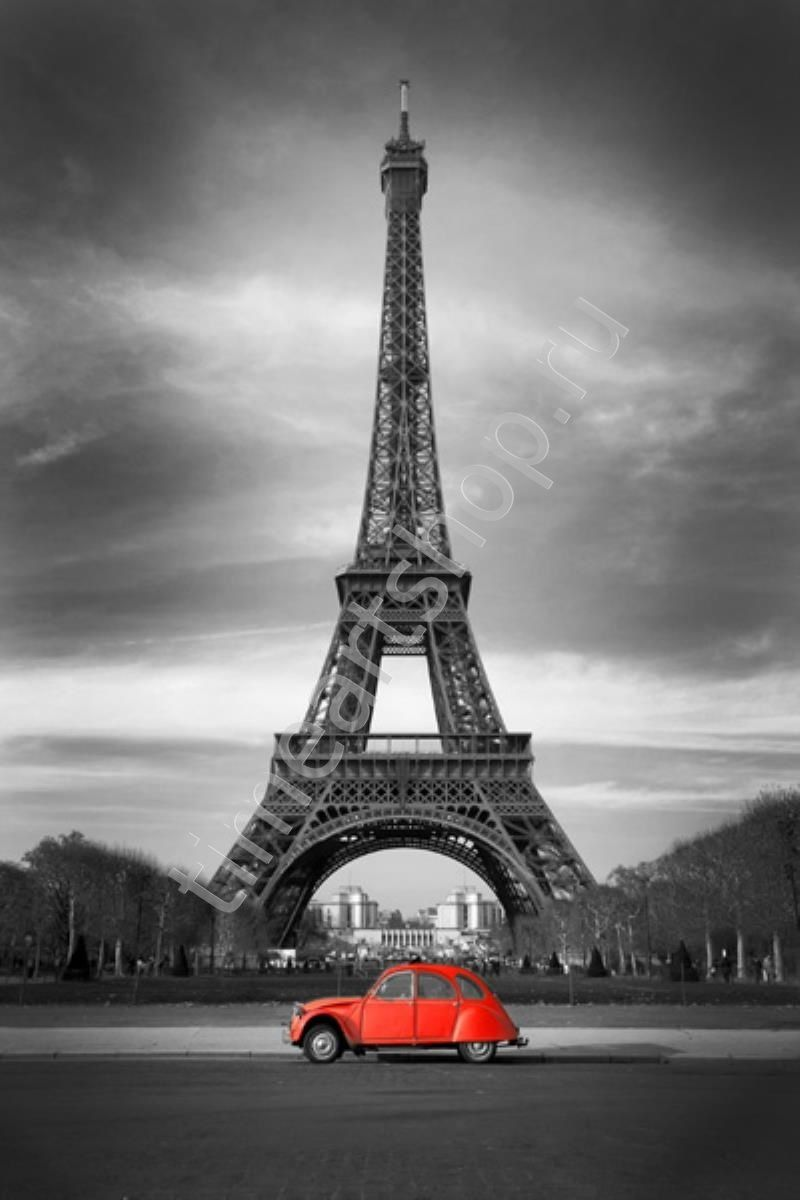 Чёрно-красный Париж, картина раскраска по номерам, размер ...