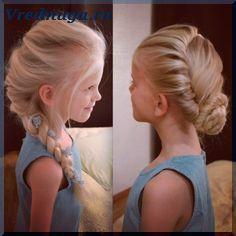 Колоски и косы - прически для девочек (mit Bildern ...