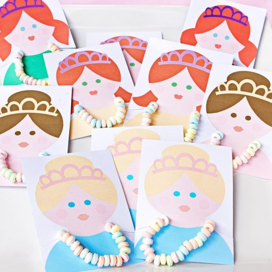 create your own princess birthday party favors with this free