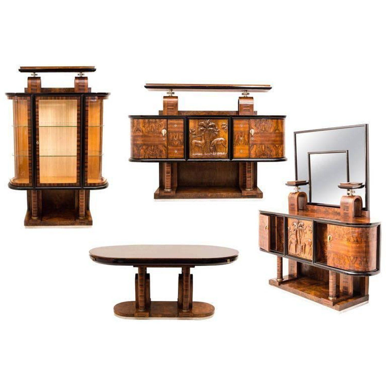 Superb Italian Design Art Deco Dining Room Set By Pierluigi Colli