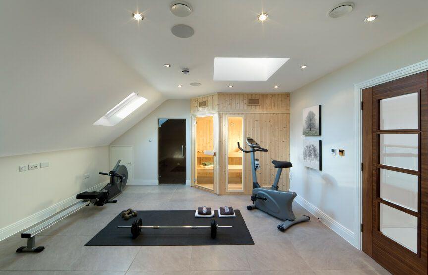 Attic Home Gym In 2020 Home Gym Design Attic Rooms Attic Remodel