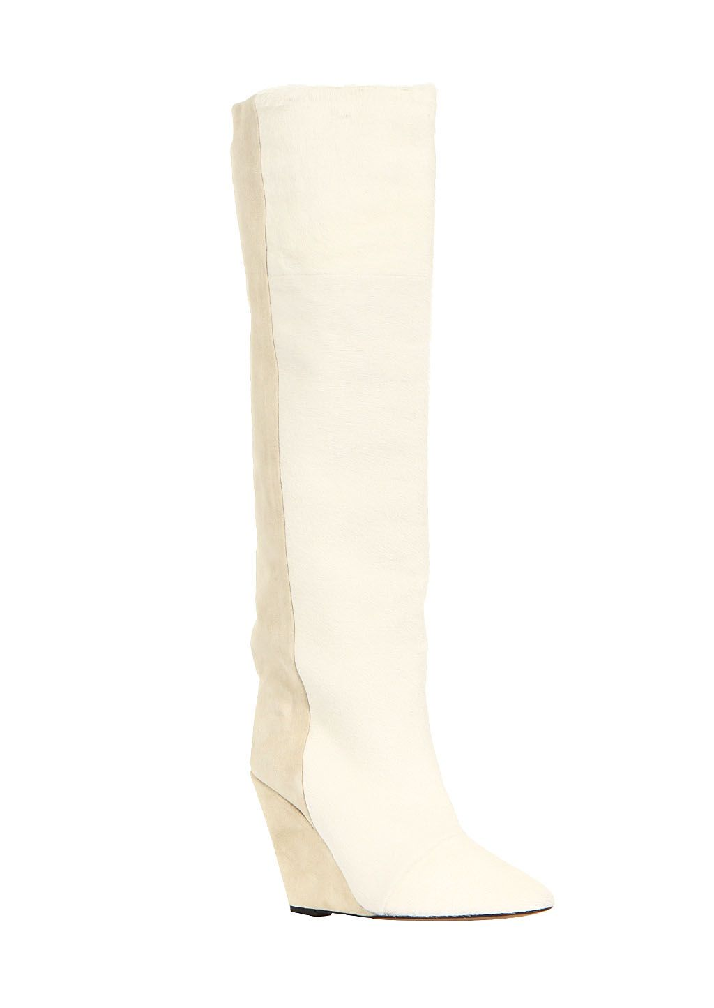 ef4f3280e0b Isabel Marant ivory suede and pony Shelia boots