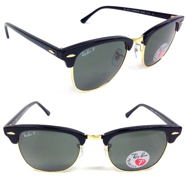 d0d4112fa2277 ... promo code for ray ban rb 3016 901 58 51mm clubmaster polarized ray ban  style sunglasses