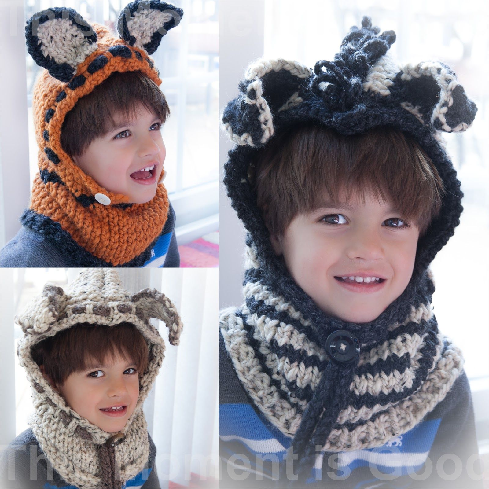 LOOM KNIT FOX, PUPPY AND ZEBRA HOOD PATTERNS! | Hood pattern, Hoods ...