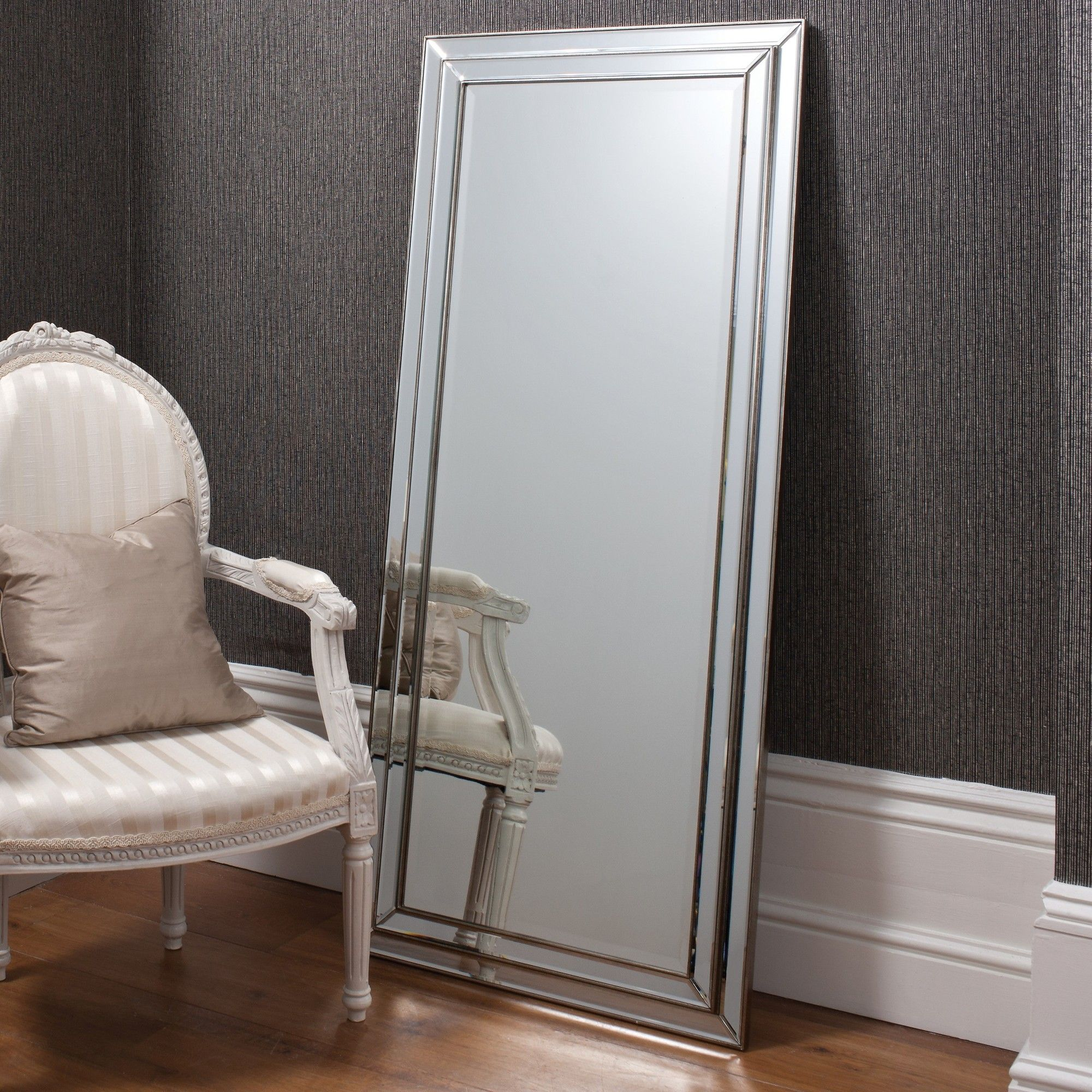 Erias Home Designs Chambery Leaner Pewter Mirror & Reviews