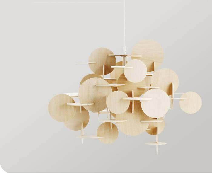 Large Bau Pendant Light In Natural