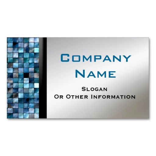 Blue Mosaic Tiles Business Cards Zazzle Com In 2021 Blue Mosaic Tile Business Card Design Customizable Business Cards