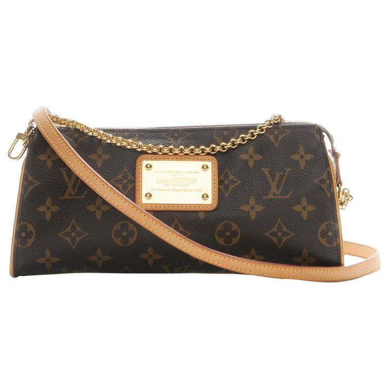 f2ea6616eec7 Louis Vuitton Structured Shoulder Bag - Soffi Eva Monogram 2Way 867396 Coated  Canvas Shoulder Bag Canvas
