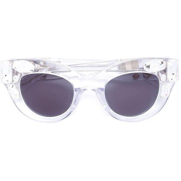 gafas de Me Blanco Blanco de accesorios sol gafas de adorno Gafas ❤ Polyvore Wang con gustó de 520 ojo gato Wang gafas sol en con Vera Uxqxw7F