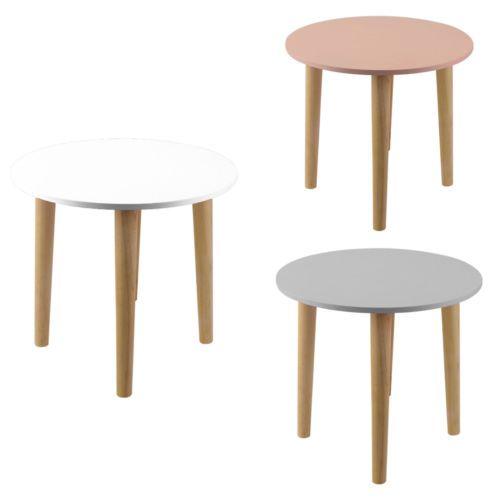 Beistelltisch Rund Tisch Nachttisch Esstisch Weiss Rosa Grau Holz 3 Farben Nachttisch Rund Esstisch Weiss Beistelltisch Grau