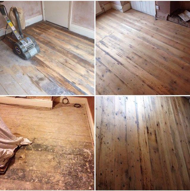 Before, during and after or DIY floor sanding and varnishing | Flooring,  Hardwood floors, Diy flooring