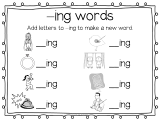 ing words | Literacy stations | Ing words, Kindergarten worksheets ...