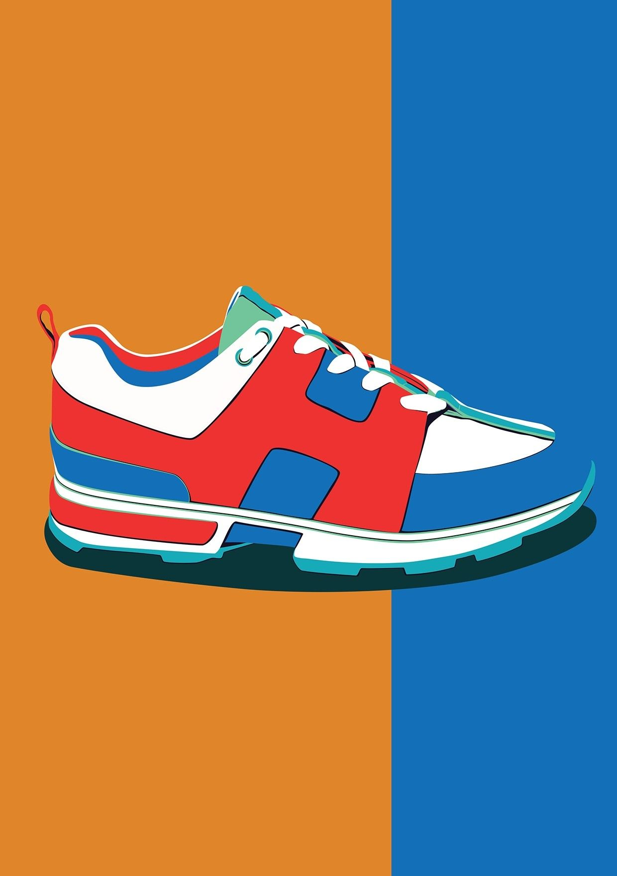a6216a4eb Psychedelic Kicks. A vector sneaker trainer illustration crafted in  Affinity Designer.  footwear  fashion  designer  shoes  trainers  illustrate