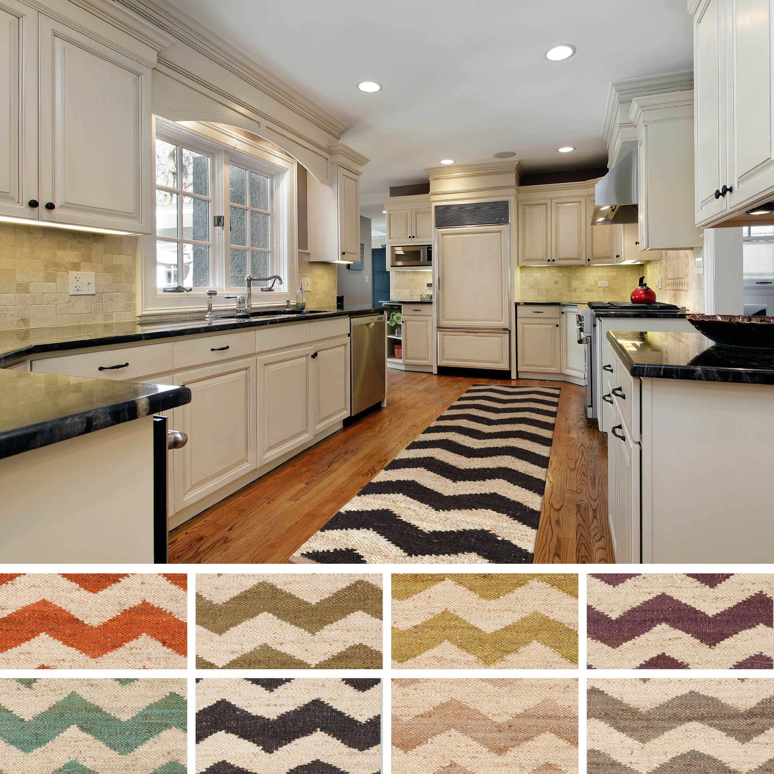 add bold style to your decor with this chevron patterned rug hand