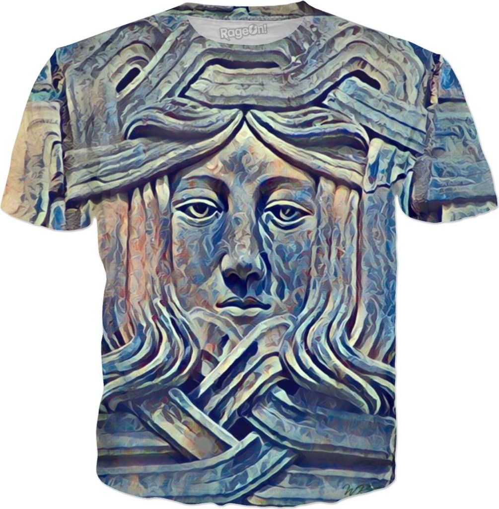 Ancient Wisdom Airbrush Custom Fantasy Style Graphic Tee by Willy Badu.