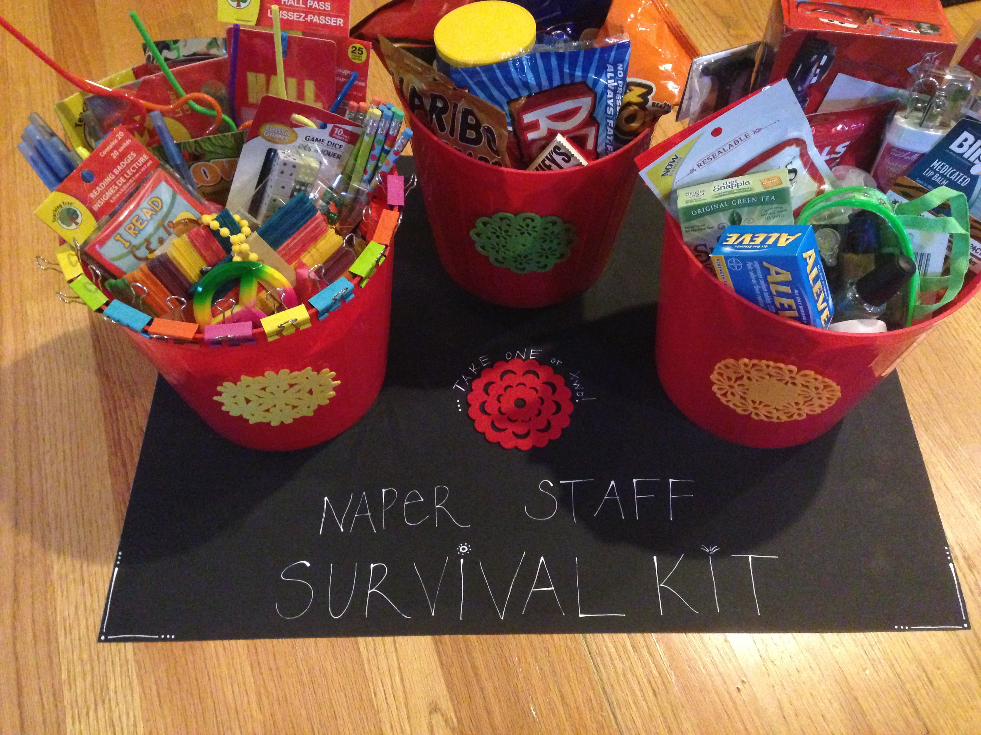 Back To School Survival Kit At Naper School I Hope They Like It School Survival Kits School Survival Aleve