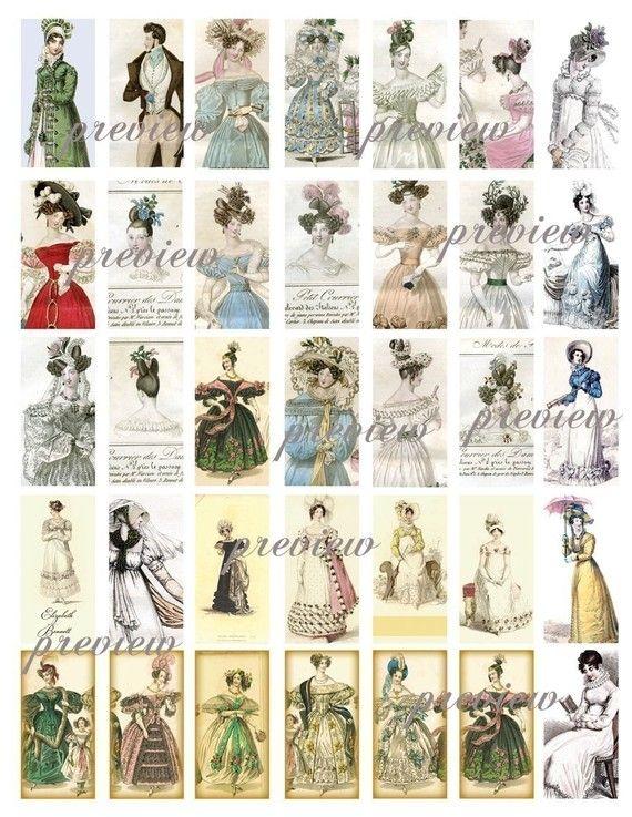 Regency Jane Austen Era English Fashion Costume Domino By Magicpug 3 00 Jane Austen Artist Supplies Jane Austen Movies
