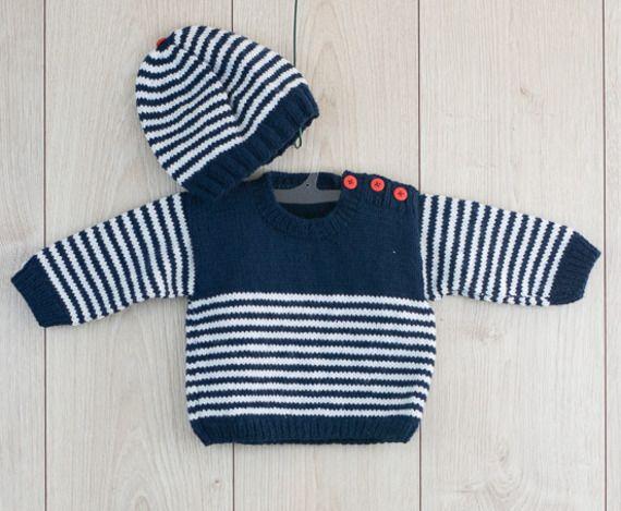 Pulls, cardigans gilet bébé 12 mois fait main au tricot Vêtements, accessoires