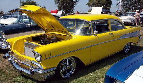 Yellow 57 Chevy Bel Air Bel Air Chevy 57 Chevy Bel Air Cars