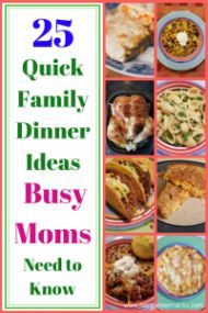 25 Easy Family Dinner Ideas for Quick Weeknight Meals