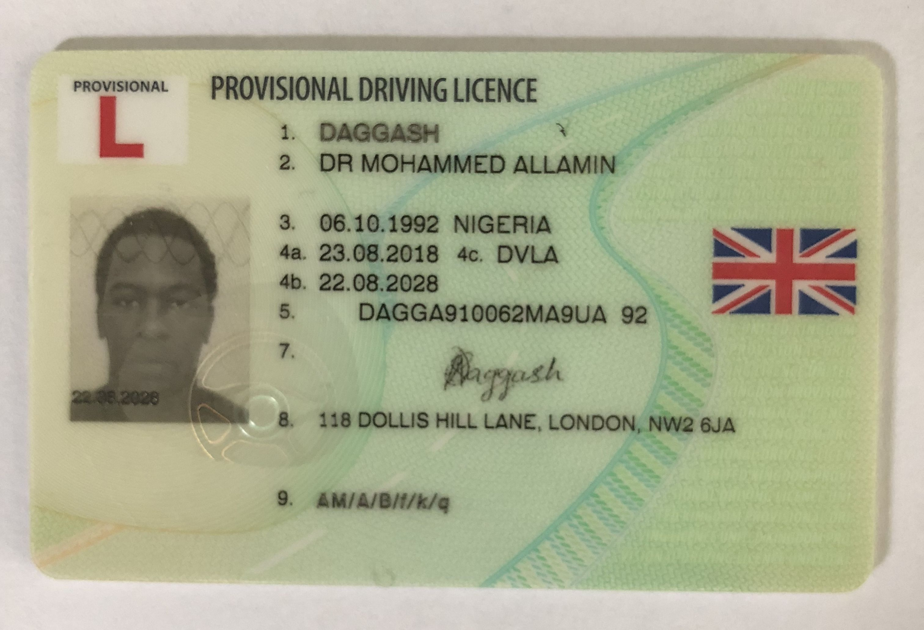 Uk Driver S License For Sale Drivers License Driving License