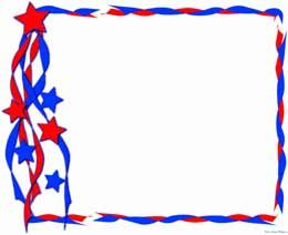 Usa Frame Scrapbook Frames Patriotic Classroom Borders For Paper