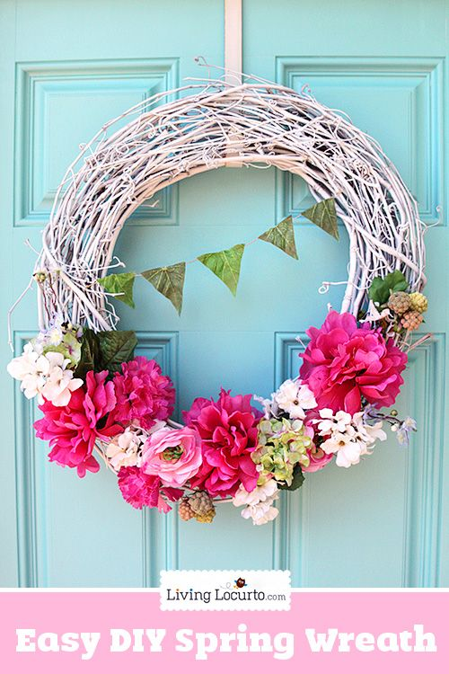 Diy Spring Wreath Craft Decorate A Grapevine Wreath For Your Home