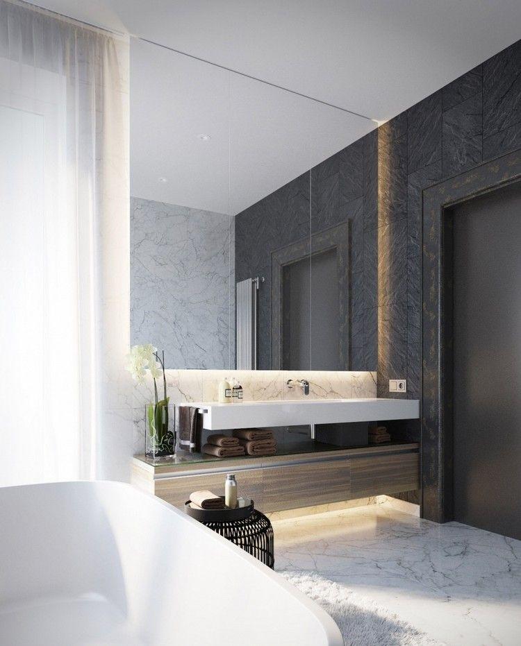 Marmor Im Badezimmer Modern Inszenieren: 40+ Ideen Für Ein