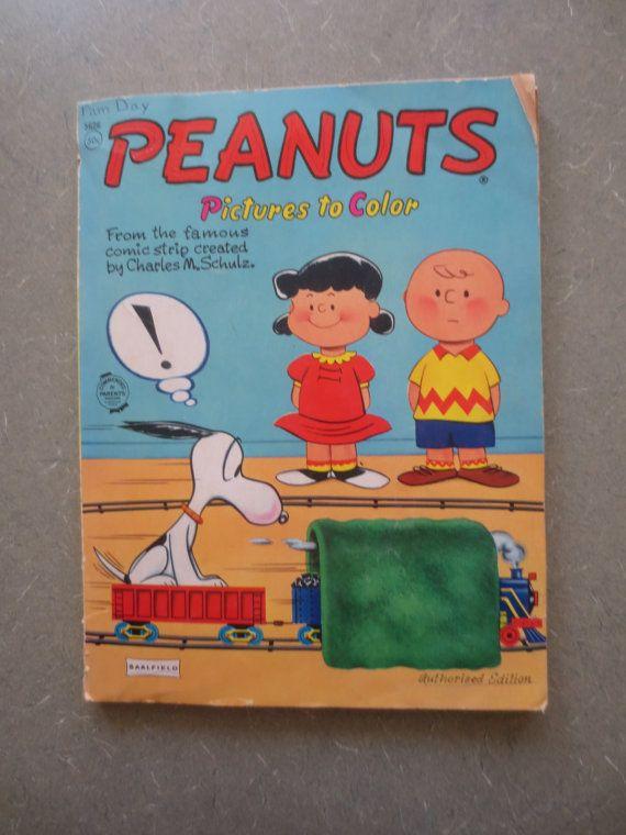 vintage peanuts coloring book 1960s peanuts vintage coloring book snoopy charlie brown - Peanuts Coloring Book