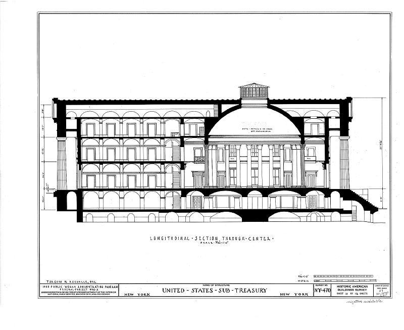 U. S. Custom House, 28 Wall Street, New York, New York County, NY HABS NY,31-NEYO,53- (sheet 11 of 15).tif