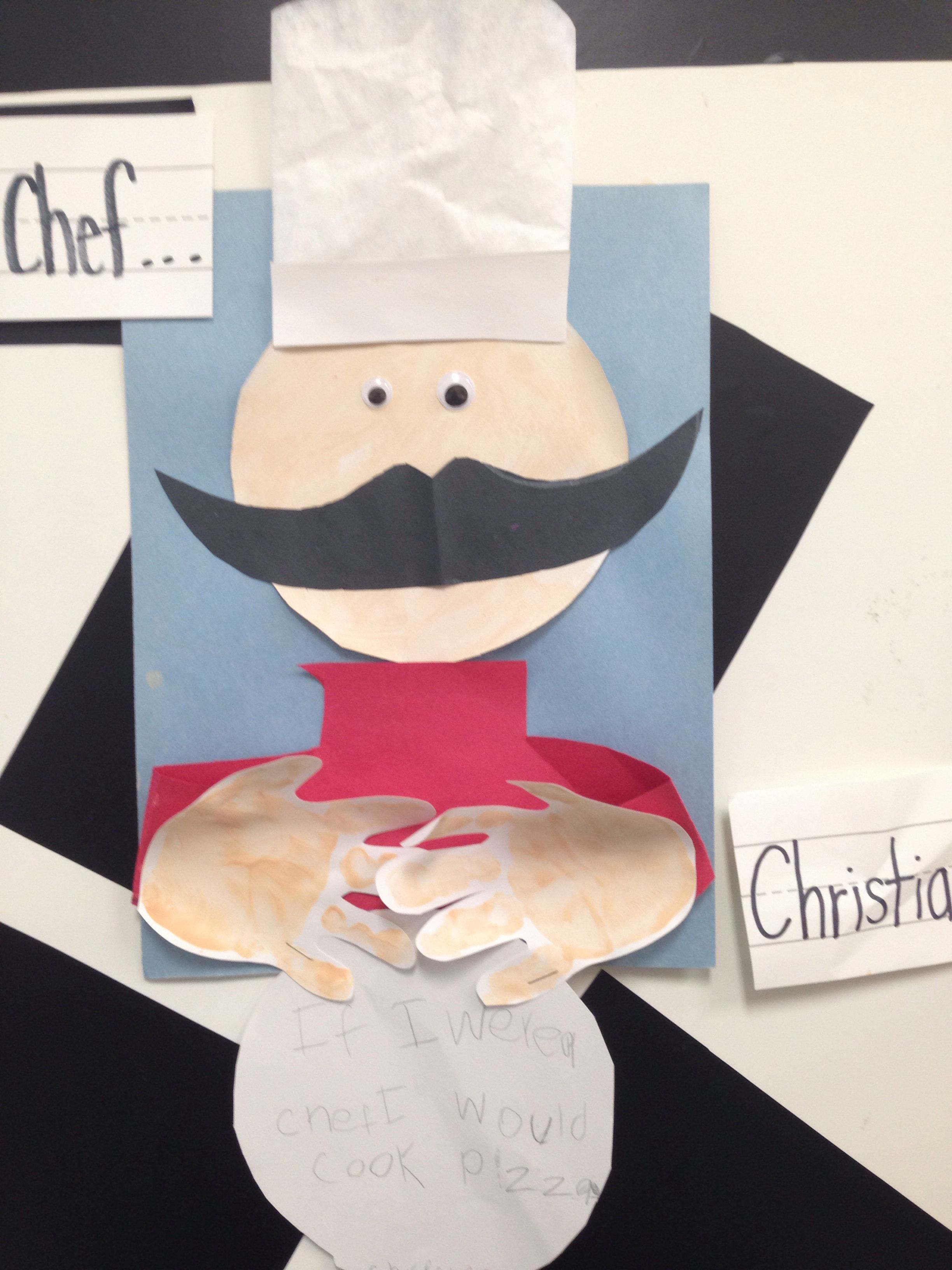 Cooking Arts And Crafts ~ Occupations prek preschool craft quot if i were a chef