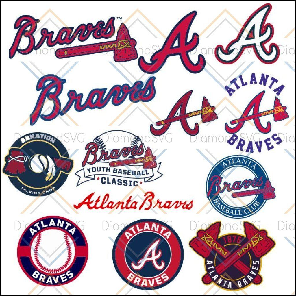 Atlanta Braves Clipart Png Mlb Baseball Svg Design Files In 2020 Baseball Svg Svg Design Atlanta Braves
