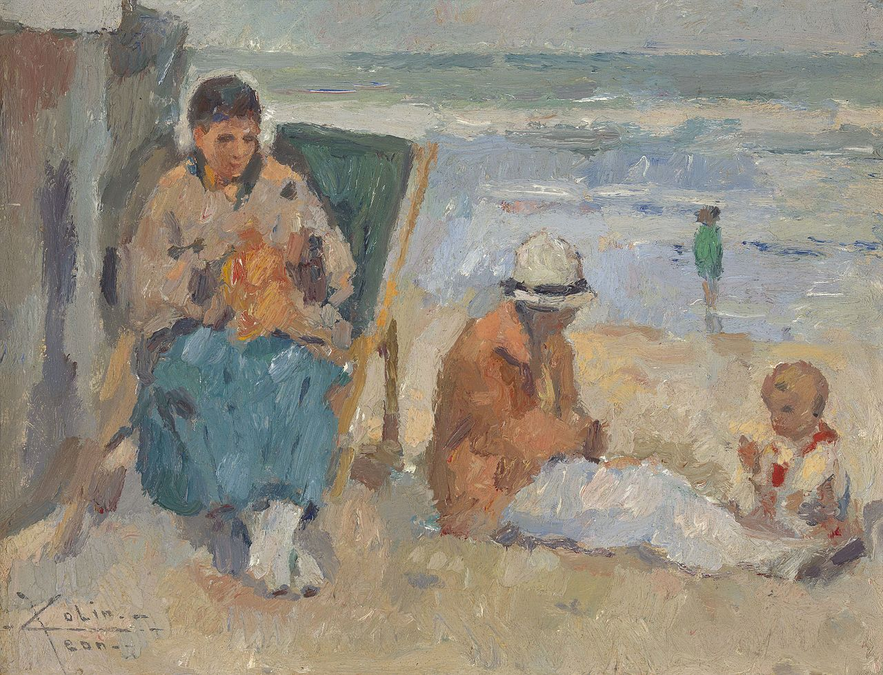 Breien Op Het Strand Ca 1915 1916 Jean Colin Peintre