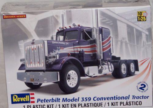 Revell peterbilt 359 conventional tractor truck model kit 1 25 scale revell peterbilt 359 conventional tractor truck model kit publicscrutiny Images
