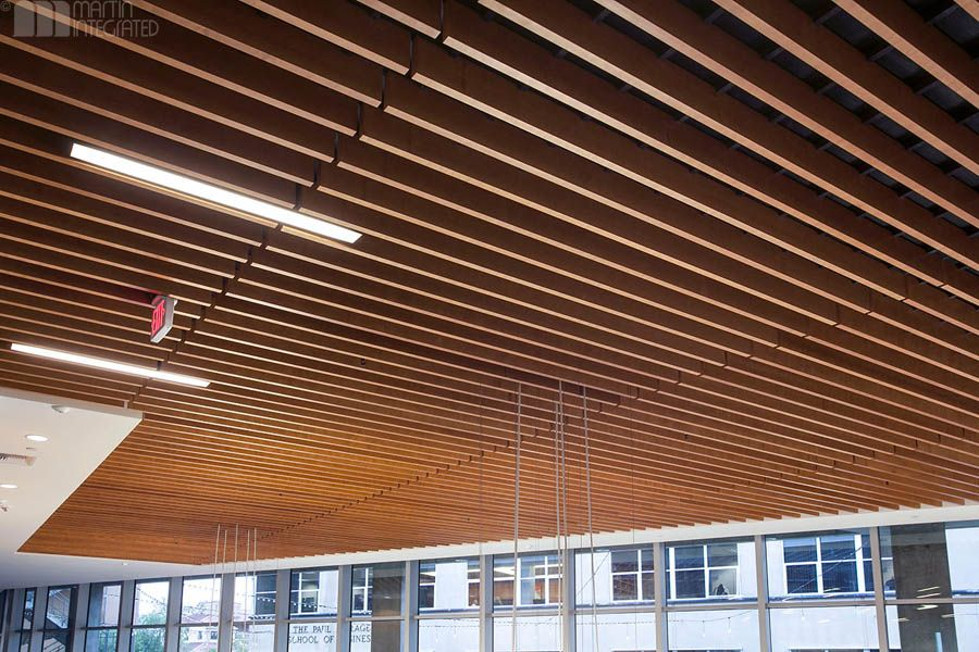 Martin Integrated Wood Ceiling System Wood Slat Ceiling Wood