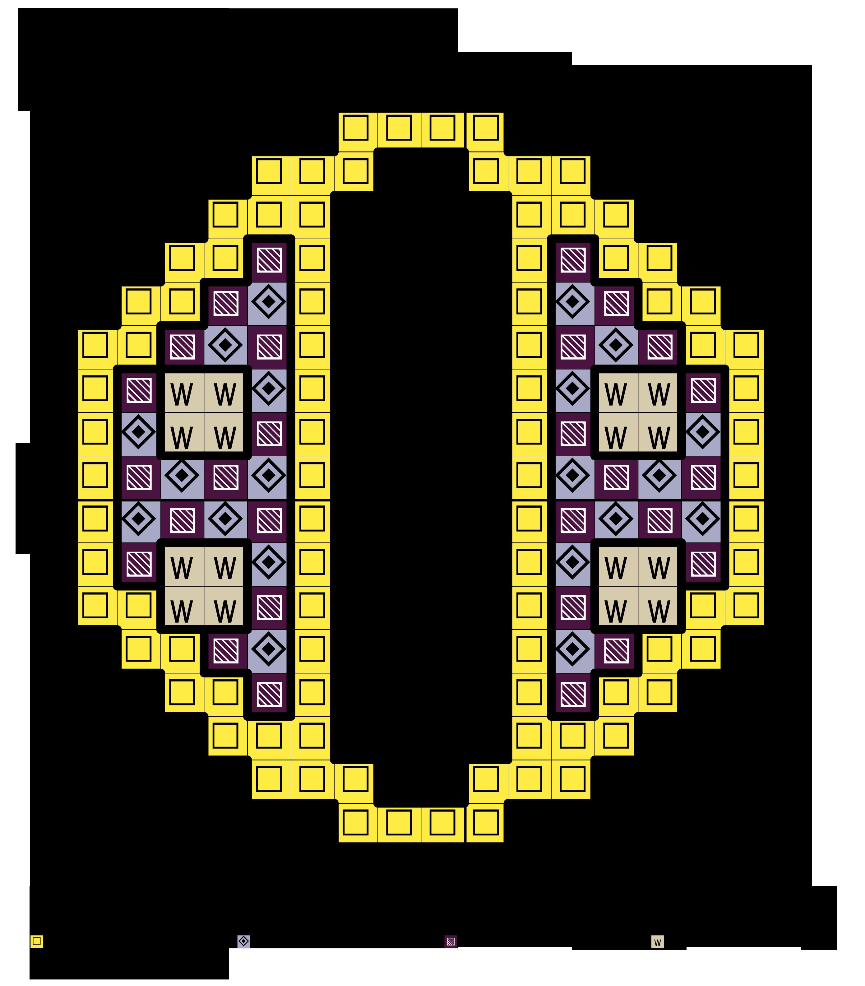 alfabeto minuscolo decorato a quadretti O