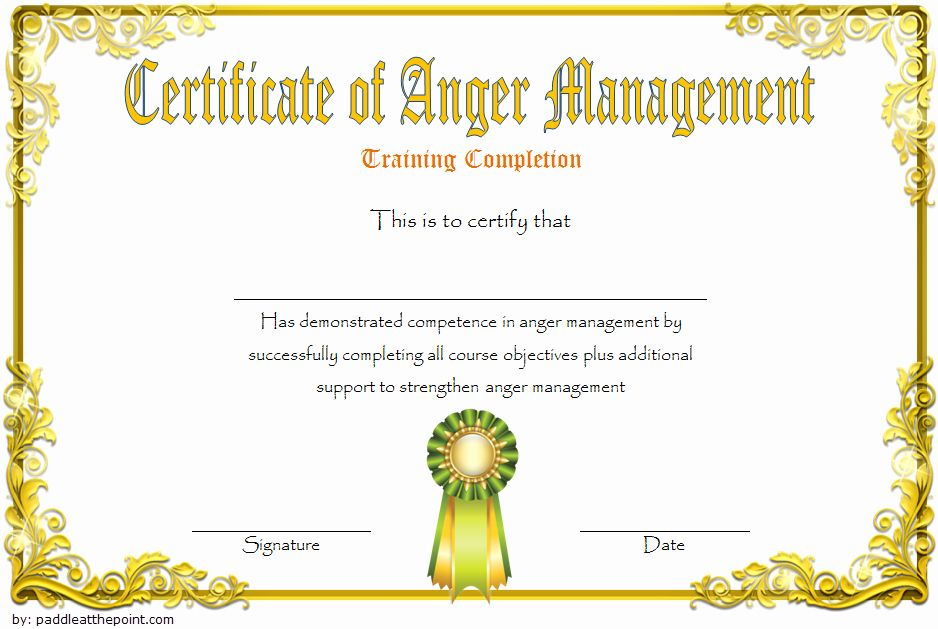 Premarital Counseling Certificate Of Completion Template Beautiful Anger Man Certificate Of Completion Template Premarital Counseling Certificate Of Completion