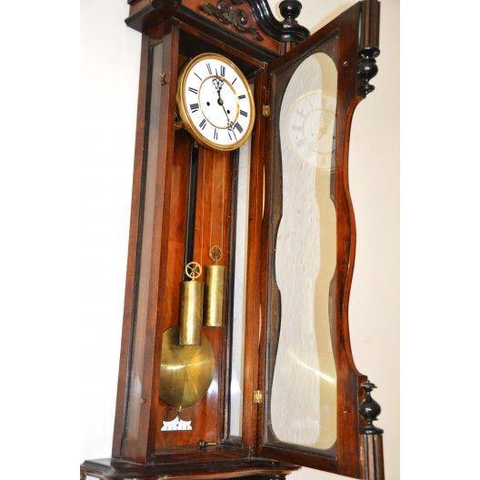 Zegar Wiszacy Ludwik Filip Przelom Xix Xxw Wiedenczyk Mechanizm He Co Schutz Marke Spolka H Endler Co Wyprodukowany Antique Wall Clock Wall Clock Clock