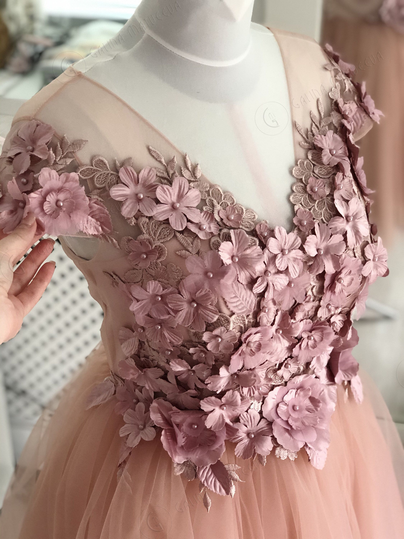 Blush Pink Wedding Dress Short Sleeves 3d Flowers Short Etsy Blush Pink Wedding Dress Short Pink Wedding Dress Short Short Sleeve Wedding Dress [ 3000 x 2250 Pixel ]