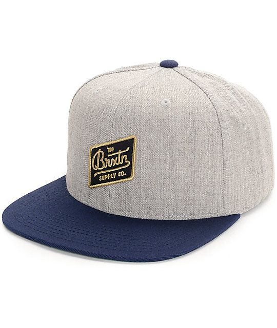 b847c27b The Bedford snapback hat from Brixton offers the best in quality headwear.  The grey crown