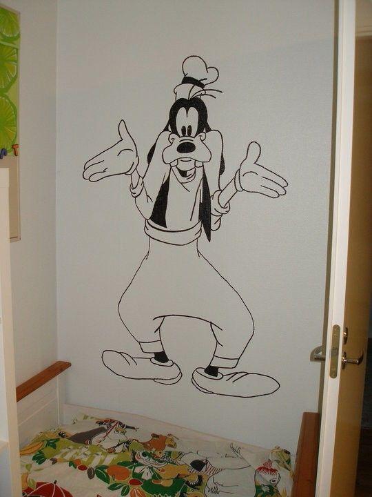 Hessu lasten huoneen seinään maalattuna.