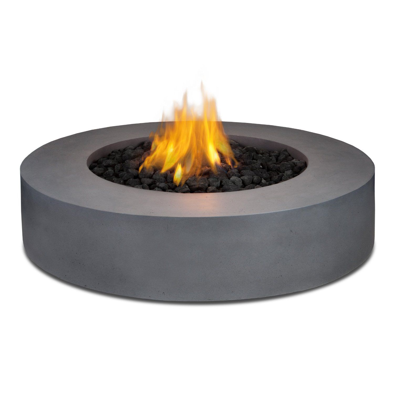 Real Flame Mezzo Round Propane Fire Pit Table In Flint Gray Patio Lawn Garden