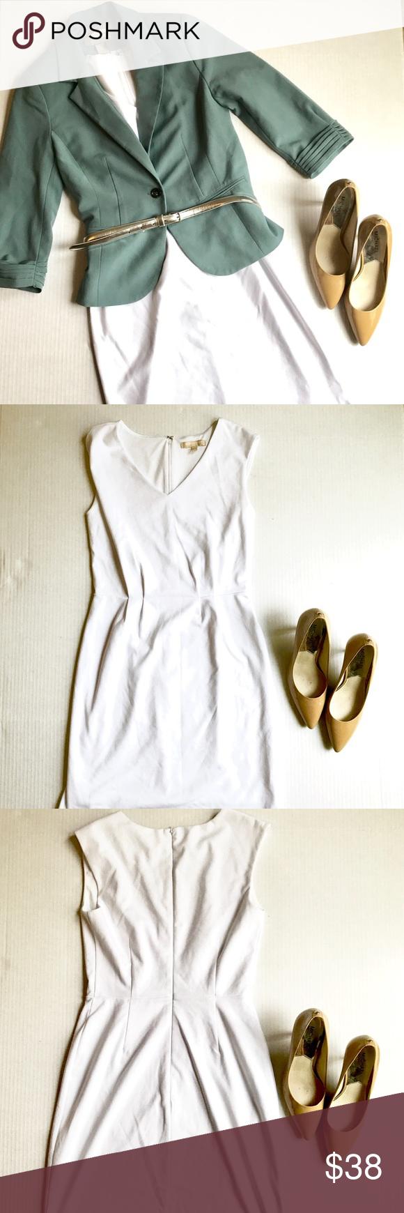 86ef61ec87f ❗️FLASH SALE❗️Banana Republic White Dress Perfect   professional midi fit.  US Women s Size 2. Pure white